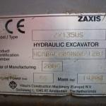 Hitachi ZX 135US